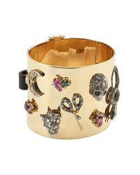 Alexis Bittar - Metallic Crystal Embellished Cuff Bracelet - Lyst