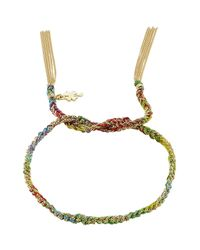 Carolina Bucci | Metallic Woven Tassel 18kt Gold Bracelet | Lyst