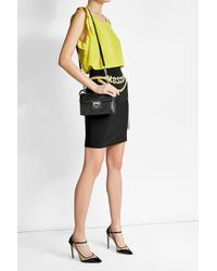 Ferragamo | Black Aileen Leather Shoulder Bag With Cut-out Detail | Lyst
