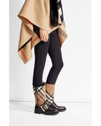 Burberry | Multicolor Boots With Check Printed Fabric | Lyst