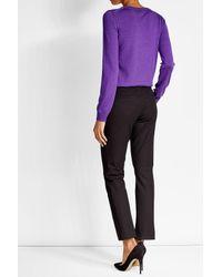 Nina Ricci | Purple Wool Pullover With Silk | Lyst