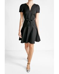 Paule Ka | Black Dress With Cotton | Lyst