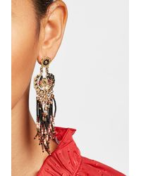 Gas Bijoux | Multicolor Gold-plated Earrings With Bead Embellishment | Lyst