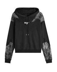 McQ Alexander McQueen | Black Cotton Hoody With Lace | Lyst