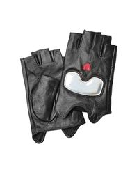 Karl Lagerfeld | Black Fingerless Leather Gloves for Men | Lyst