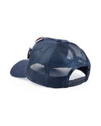 DSquared² - Blue Trucker Hat With Badges for Men - Lyst