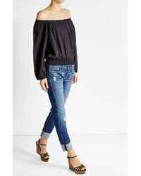 Melissa Odabash | Multicolor Embroidered Cotton Top | Lyst