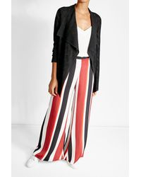 M Missoni - Multicolor Draped Cardigan With Virgin Wool - Lyst