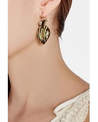 Alexis Bittar - Metallic Gold-plated Earrings With Lucite - Lyst