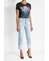 DSquared² | Blue Printed Cotton T-shirt | Lyst