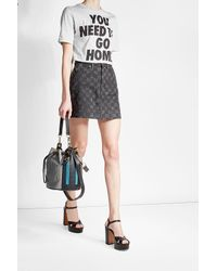 KENZO | Black Drawstring Tote With Leather | Lyst