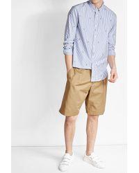 KENZO   Blue Printed Cotton Shirt for Men   Lyst