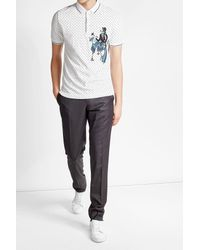 Dolce & Gabbana | Multicolor Cotton Polo Shirt With Embroidery for Men | Lyst
