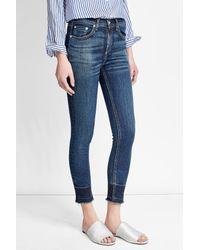 Rag & Bone - Blue High-rise Cropped Jeans - Lyst