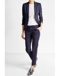 HUGO | Blue Virgin Wool Blazer | Lyst