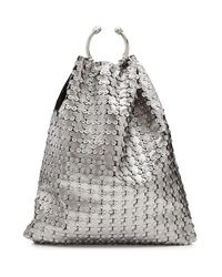 RED Valentino - Gray Embellished Leather Tote - Lyst