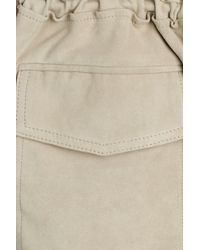 Vince - Gray Leather Jacket With Drawstring Waist - Lyst