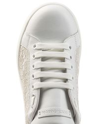 Dolce & Gabbana - White Leather Sneakers With Lace - Lyst