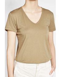 Vince - Natural Cotton T-shirt - Lyst