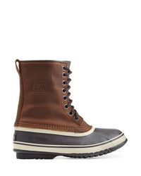 Sorel - Blue Leather/rubber All-weather Boot for Men - Lyst