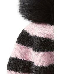 Charlotte Simone | Multicolor Hat With Mohair And Fox Fur | Lyst