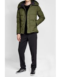 KENZO - Green Quilted Down Jacket for Men - Lyst