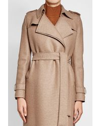 Harris Wharf London | Natural Virgin Wool Coat | Lyst