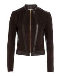 Michael Kors - Black Suede Jacket - Lyst