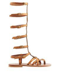 K. Jacques - Brown Appiap Leather Sandals - Lyst