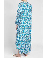 Borgo De Nor - Blue High-low Printed Dress - Lyst