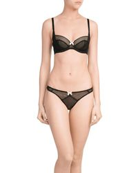 L'Agent by Agent Provocateur - Black Carla Non-padded Blacony Bra - Lyst