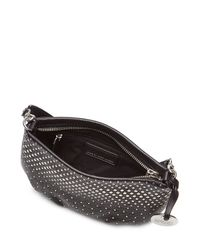 Marc By Marc Jacobs | New Q Percy Embellished Leather Shoulder Bag - Black | Lyst