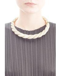 Aurelie Bidermann - Metallic Aurélie Bidermann Twisted Necklace - White - Lyst