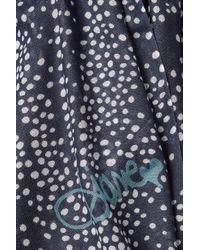 Diane von Furstenberg - Blue Dot Print Scarf With Cashmere - Lyst