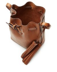 Polo Ralph Lauren - Bucket Shoulder Bag With Tassels - Brown - Lyst