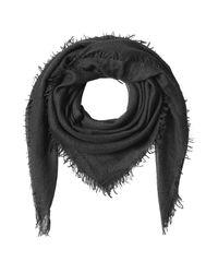 Faliero Sarti | Cashmere-silk Fringed Scarf - Black | Lyst