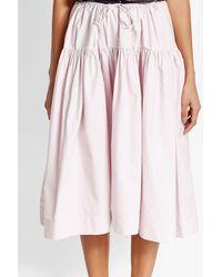 Jil Sander Navy - Pink Cotton Skirt - Lyst