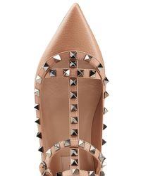 Valentino - Multicolor Rockstud Leather Ballerinas - Lyst