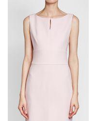 Max Mara - Pink Virgin Wool Sheath Dress - Lyst