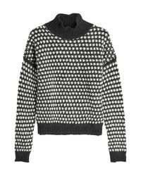 HUGO - Black Suzan Pullover With Wool And Alpaca - Lyst