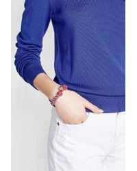 Aurelie Bidermann - Blue Bead Embellished Bracelet - Lyst