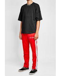 Palm Angels - Black Cotton T-shirt for Men - Lyst