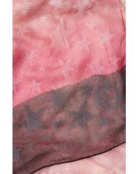 Alexander McQueen - Pink Degrade Stars Chiffon Scarf - Lyst