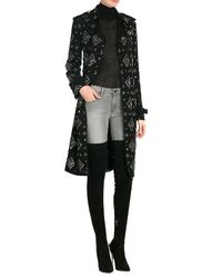 Paul Andrew - Black Suede Over The Knee Boots With Chrysler Heel - Lyst