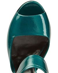 Pierre Hardy - Green Patent Leather Pumps - Lyst