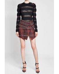Balmain - Multicolor Merino Wool Pullover With Mohair - Lyst