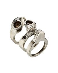 Alexander McQueen | Multicolor Skull Ring for Men | Lyst