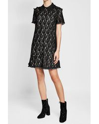 RED Valentino - Black Lace Dress - Lyst