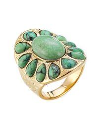 Aurelie Bidermann | Metallic Gold-plated Ring | Lyst