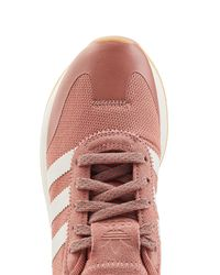 Adidas Originals - Pink Flashback Sneakers With Leather And Suede - Lyst